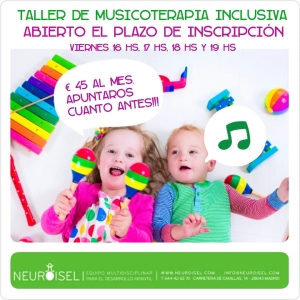 cartel musicoterapia inscripcion
