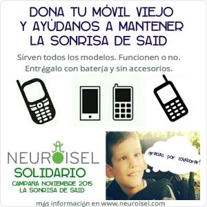 NEUROISEL SOLIDARIO Campaña LA SONRISA DE SAID dona tu movil
