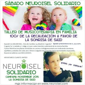 NEUROISEL SOLIDARIO Campaña LA SONRISA DE SAID Taller musicoterapia en familia