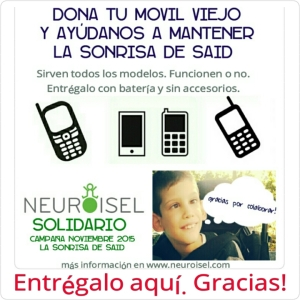 Neuroisel Solidario la sonrisa de Said dona tu movil